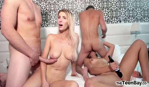 Two Blondes Foursome Show