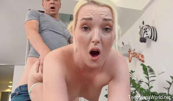 Dripping wet blonde pussy