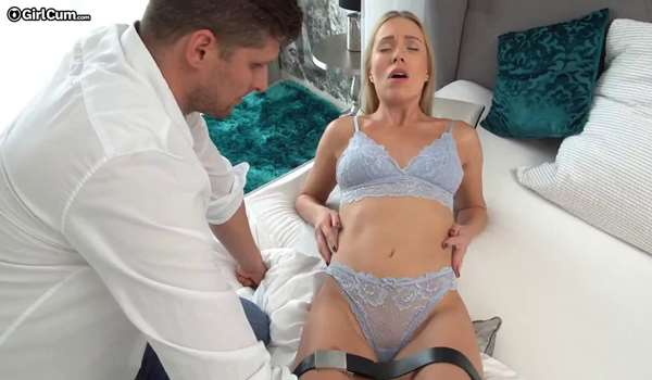 Angelika cums over and over again