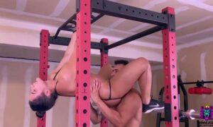 Intense anal fuck in the gym
