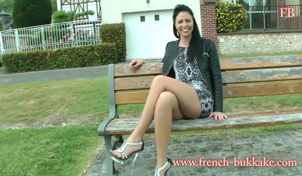 French amateur gangbang
