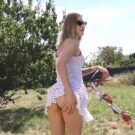 Nice French Blondie Outdoor Sex
